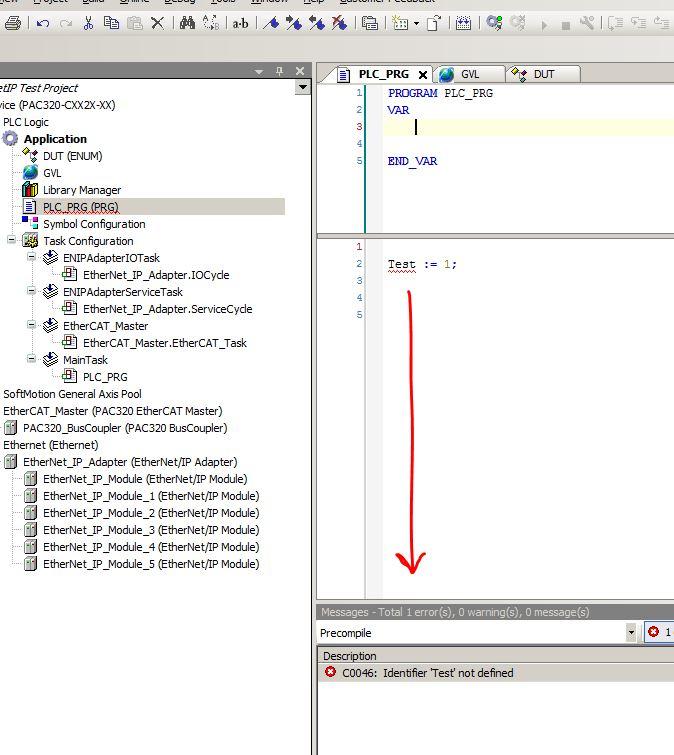 C0046: Identifier 'xxxx' not defined - precompile error in PAM 1 3 0