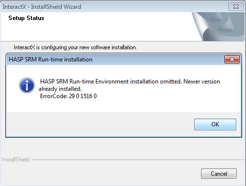 InteractX 4 0 HASP key driver Aladdin vs Sentinel (NOTE