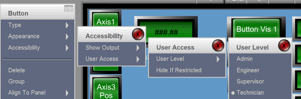 Control Access to Panels and Tools using the Password User